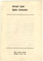First page of Georgia Equal Rights Convention program