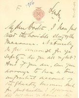 First page of Letter from John E. Milholland to W. E. B. Du Bois