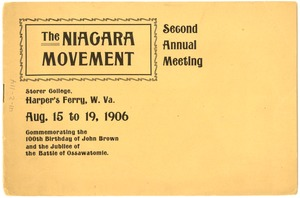 First page of Niagara Movement Second Annual Meeting Program Copy 2