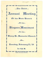 First page of Niagara Movement-Maryland Branch Annual Meeting Program