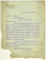 First page of Letter from Robert B. Barcus to W. E. B. Du Bois