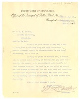 First page of Letter from William L Oakley  to W. E. B. Du Bois