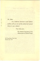 First page of Leaflet on Jim Crow
