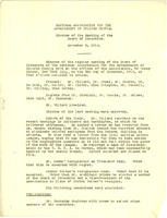 First page of National Association for the Advancement of Colored People minutes of the meeting of the Board of Directors November 6, 1913