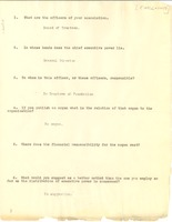 First page of Russell Sage Foundation questionnaire