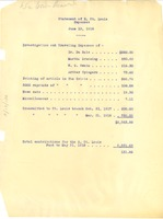 First page of Statement of E. St. Louis Expenses, June 10, 1918