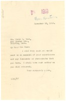First page of Letter from W. E. B. Du Bois to Blair T. Hunt