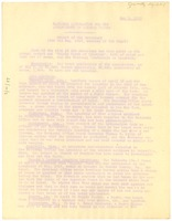 First page of National Association for the Advancement of Colored People Report of the             secretary for the May 1919 meeting of the Board.