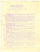First page of National Association for the Advancement of Colored People Report of the             secretary for the July 1919 meeting of the Board.