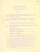 First page of National Association for the Advancement of Colored People minutes of the             meeting of the board of directors, July 11, 1919.