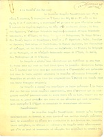 First page of Letter from Pan-African Congress to League of Nations
