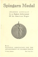 First page of Spingarn Medal
