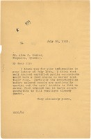First page of Letter from W. E. B. Du Bois to Alva C. Rucker