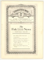 First page of Fisk University news