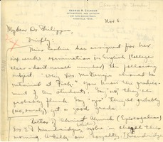 First page of Letter from George Streator to A. D. Philippse