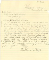 First page of Letter from Lueddeman Mayse to W. E. B. Du Bois