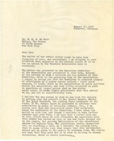First page of Letter from H. M. Bond to W. E. B. Du Bois