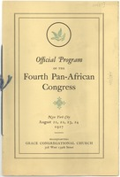 First page of Official Program of the Fourth Pan-African Congress