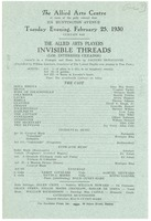 First page of Invisible Threads program