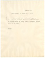 First page of Memorandum from W. T. Andrews to W. E. B. Du Bois