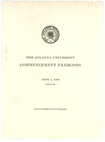 First page of The Atlanta University commencement exercises June 1, 1932, 3:00 p.m. Sixty-third anniversary