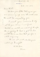 First page of Letter from Nina Du Bois to W. E. B. Du Bois