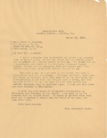First page of Letter from W. E. B. Du Bois to Daisy Lampkin