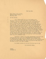 First page of Letter from W. E. B. Du Bois to Rachel Davis DuBois