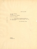 First page of Letter from W. E. B. Du Bois to James Dillard