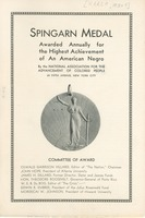 First page of 1934 Spingarn Medal brochure