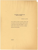 First page of Memorandum from W. E. B. Du Bois to President Read