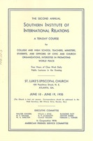 First page of Southern Institute of International Relations Program