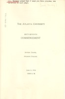 First page of Program of Atlanta University sixty-seventh commencement exercises