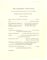 First page of Honoring the seventieth birthday celebration of Dr. W. E. B. Du Bois program