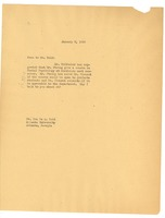 First page of Letter from W. E. B. Du Bois to Ira De A. Reid