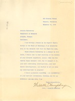 First page of Letter from Willette Humphrey to Atlanta University
