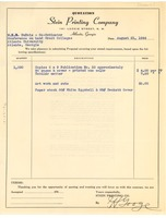 First page of Contract between Stein Printing Company and W. E. B. Du Bois