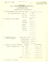 First page of Sigma Pi Phi Rho Boulé information sheet