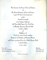 First page of Annual ceremonial program