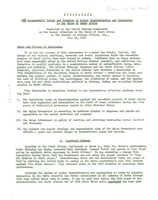 First page of Memorandum on government policy and practices of racial discrimination and             oppression in the Union of South Africa