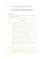 First page of World enquiry on the summit conference