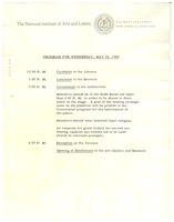 First page of Program for Wednesday, May 25, 1960