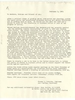 First page of Letter from Action for South Africa to W. E. B. Du Bois