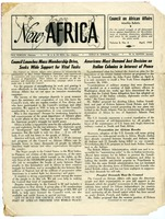 First page of New Africa, volume 8, number 4 [fragment]