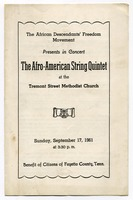 First page of Afro-American string quartet program