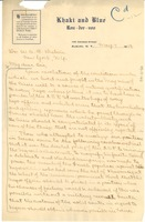 First page of Letter from E. A. Carter to W. E. B. Du Bois