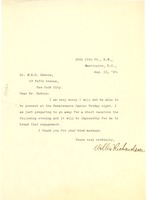 First page of Letter from Willis Richardson to W. E. B. Du Bois