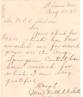First page of Letter from Ruth A. G. Shelton to W. E. B. Du Bois
