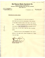 First page of Memorandum from Dunbar National Bank to W. E. B. Du Bois