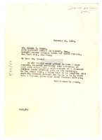 First page of Letter from W. E. B. Du Bois to Dunbar National Bank